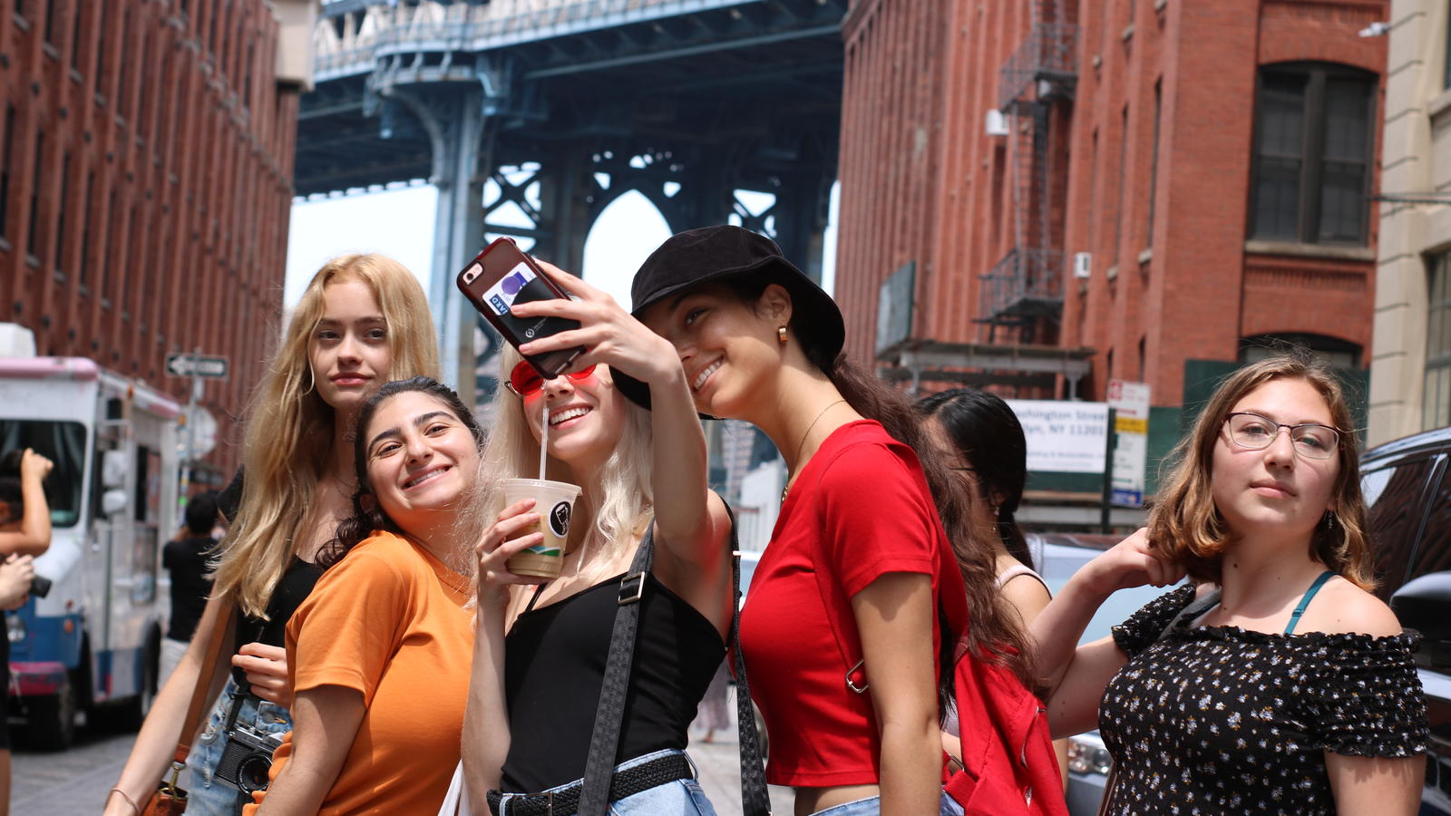 Students posing for a selfie